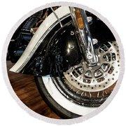 Indian Motorcycle Wheel Round Beach Towel