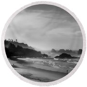 Indian Point Beach - Oregon Coast Round Beach Towel
