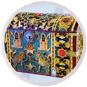 Indian Portuguese Chest Round Beach Towel