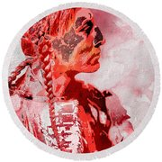 Indian Red Round Beach Towel