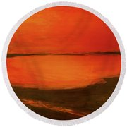 Indian River Reminiscence Round Beach Towel