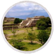 Indian Ruins Round Beach Towel