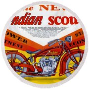 Indian Scout Round Beach Towel