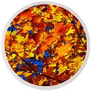 Indian Summer ... Round Beach Towel