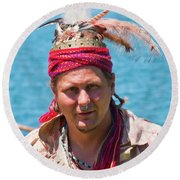 Indian Vii  6681 Round Beach Towel