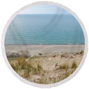 Indiana Dunes National Lakeshore Evening Round Beach Towel