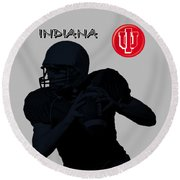 Indiana Football Round Beach Towel