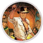 Indiana Jones Raiders Of The Lost Ark 1981 Round Beach Towel