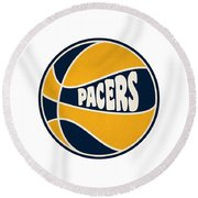 Indiana Pacers Retro Shirt Round Beach Towel