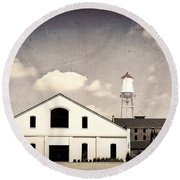 Indiana Warehouse Round Beach Towel