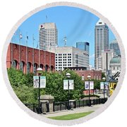Indianapolis From The Park Round Beach Towel