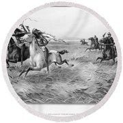 Indians/u.s. Military, 1876 Round Beach Towel
