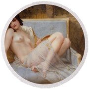 Indolence Round Beach Towel by Guillaume Seignac