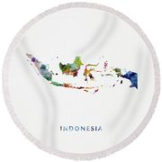 Indonesia Round Beach Towel