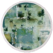 Industrial Abstract - 17t Round Beach Towel
