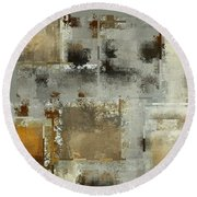 Industrial Abstract - 24t Round Beach Towel