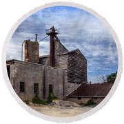 Industrial Cement Factory Round Beach Towel