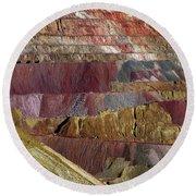 Industrial Colorscape Round Beach Towel