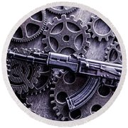 Industrial Firearms  Round Beach Towel