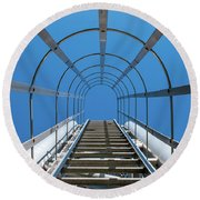 Industrial Ladder Round Beach Towel