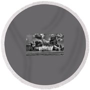 Industrial Landscape In Black And White 1 Round Beach Towel