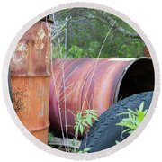 Industrial Leftovers Round Beach Towel