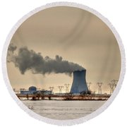 Industrialscape Round Beach Towel