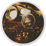 Industry Of Artistic Creations Round Beach Towel