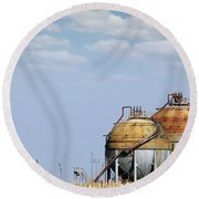 Industry Tank For Gas And Liquid Round Beach Towel