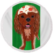 Indy - Pizza Round Beach Towel