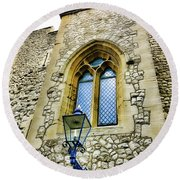 Infamous White Tower Of London Round Beach Towel