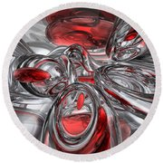 Infection Abstract Round Beach Towel
