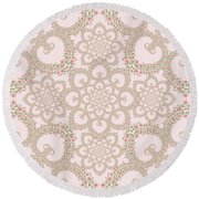 Infinite Lily In Pastels Round Beach Towel