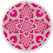 Infinite Lily In Pink Round Beach Towel