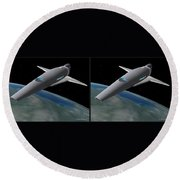 Infinity And Beyond - Gently Cross Your Eyes And Focus On The Middle Image Round Beach Towel