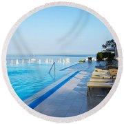 Infinity Pool Round Beach Towel