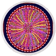 Infinity Star Flower An Abstract Fineart Expression By Navinjoshi At Fineartamerica.  Colorful Fun Round Beach Towel