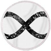 Infinity Symbol-black Round Beach Towel