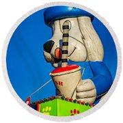 Inflated Temptation 2 Round Beach Towel