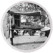 Influenza Epidemic, 1918 Round Beach Towel