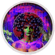 Influenza She Has Gone Viral Round Beach Towel