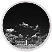 Infrared Farm Round Beach Towel