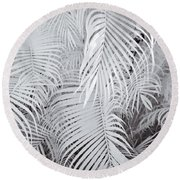 Infrared Palm Abstract Round Beach Towel