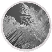 Infrared Palm Trees Round Beach Towel
