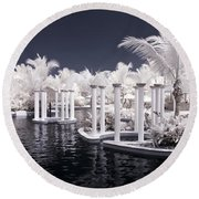 Infrared Pool Round Beach Towel
