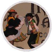 Inka Dancers Round Beach Towel