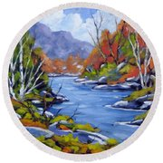 Inland Water Round Beach Towel