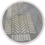 Inlayed Brick Walk Round Beach Towel