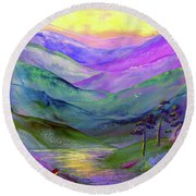 Inner Flame, Meditation Round Beach Towel