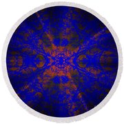 Inner Glow - Abstract Round Beach Towel
